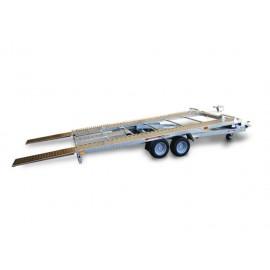 Rimorchio trasporto auto e veicoli PA20 basculante con rampe