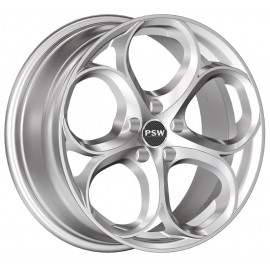 Kit 4 Cerchi in Lega Alfa Romeo Giulia Dubai Silver 8x19 5x110 ET34 CB65,10
