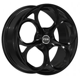 Kit 4 Cerchi in Lega Alfa Romeo Giulia Dubai Gloss Black 8x19 5x110 ET34 CB65,10
