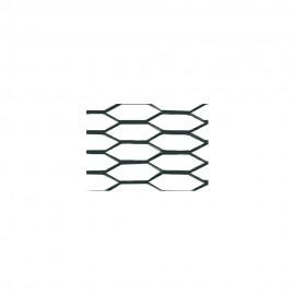 Racing Grill - Hexagon 8x25 mm - 100x33 cm - Nero anodizzato