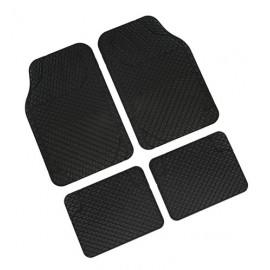 Drena 4, serie tappeti universali 4 pezzi - Nero