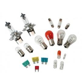 Kit lampade di ricambio 19 pz, alogena 2x H4 - 12V