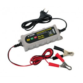 Amperomatic Trainer, caricabatteria intelligente, 6/12V - 0,55/1A