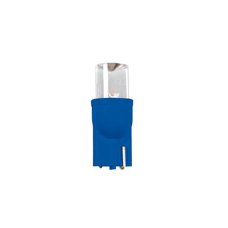 12V Color-Led, lampada 1 Led - (T10) - W2,1x9,5d - 2 pz - D/Blister - Blu