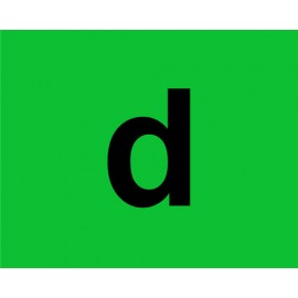 Marcatura in pvc verde con supporto adesivo - D