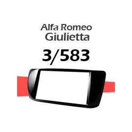 Mascherina per Alfa Romeo Giulietta 3/583 - sorgenti Doppio Din