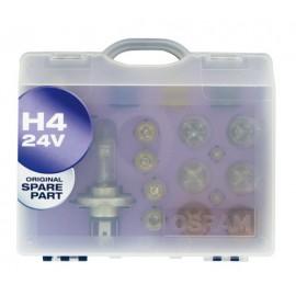 24V Kit Lampade di ricambio 24V - W - 1 pz - Scatola Plast. - H4