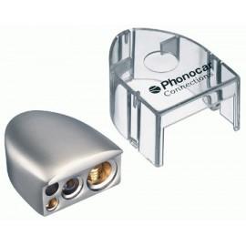 Morsetto batteria Phonocar mod. 4/482 - 4 uscite Negative - Nickel + protezione