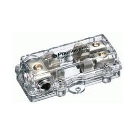 Portafusibile Phonocar mod. 4/487 - 2 uscite - 10x38 mm - Nickel