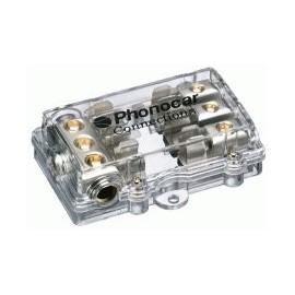 Portafusibile Phonocar mod. 4/488 - 3 uscite - 10x38 mm - Nickel