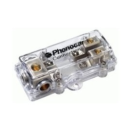 Portafusibile Phonocar mod. 4/497 - 2 vie per fusibili AFC - Nickel