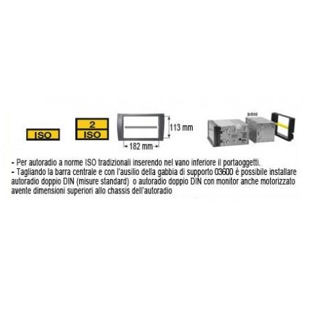 Mascherina Phonocar mod. 3/455 - Doppio ISO DIN Hyundai i10 ► 2014