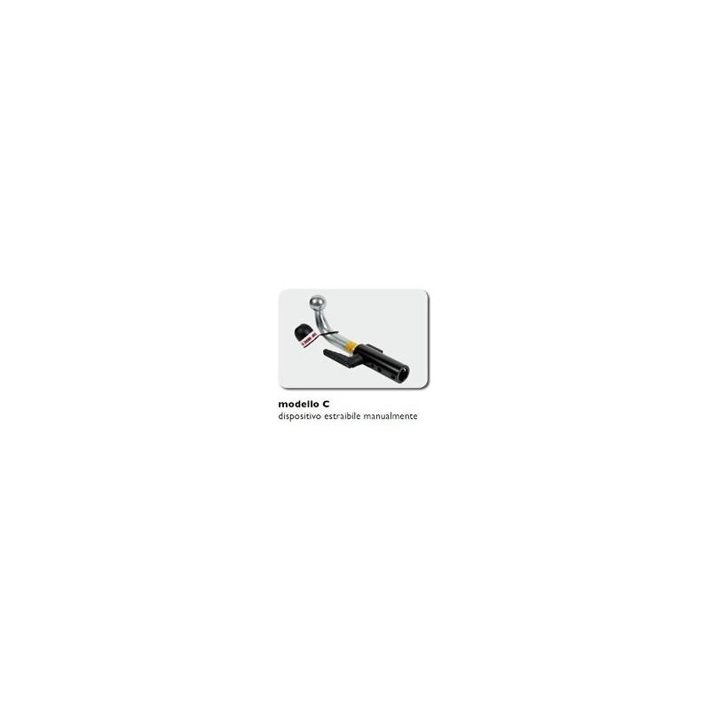 Gancio di traino V, VITO MS, no modello con sensore di parcheggio ESTRAIBILE MANUALMENTE (CABLAGGIO ESCLUSO)