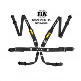 cintura di sicurezza 6 punti (HANS) omologata FIA ECE nera/black
