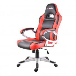 poltrona da ufficio racing style nero-rosso