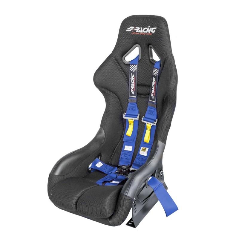 Kit omologato FIA completo di sedile, staffa e cinture blu/blue
