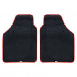 DUAL Kit due tappeti anteriori universali bordo rosso