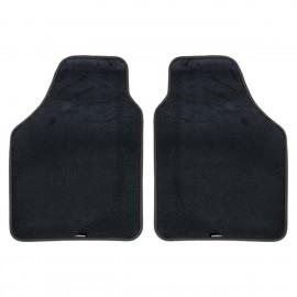 DUAL Kit due tappeti anteriori universali bordo nero
