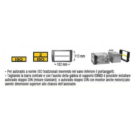 Kit di fissaggio Phonocar mod. 3/534  sorgente ISO Doppio DIN Mazda CX7 2007 ►