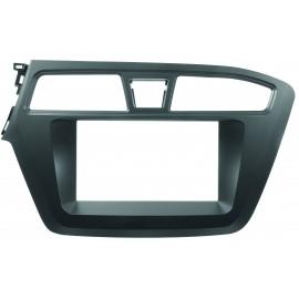 Mascherina senza autoradio kit fissaggio 2DIN Nero <strong>HYUNDAI</strong> i20 15&gt