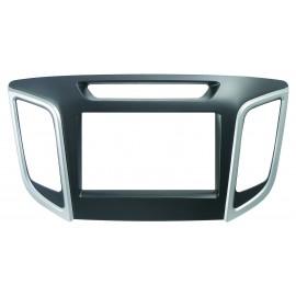 Mascherina autoradio 2DIN Colore nero - grigio<br /> Conf. 1 set <strong></strong><strong></strong><strong>Hyundai</strong> ix25