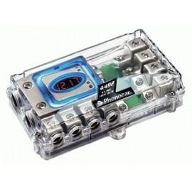 Portafusibile Phonocar mod.4/492 con Voltmetro 4 uscite