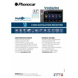 "Media Station Monitor 6,2"" Navigatore Italia Bluetooth senza meccanica"