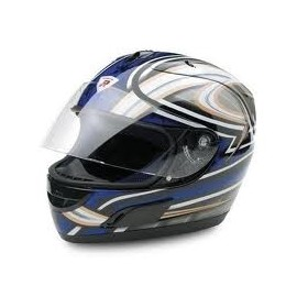 CASCO INTEGRALE DRAGON BLU METAL SIZE L