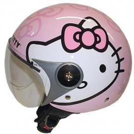 Casco da Bambino Hello Kitty Bianco/Rosa