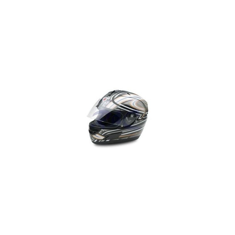 CASCO INTEGRALE DRAGON ARGENTO METAL SIZE M