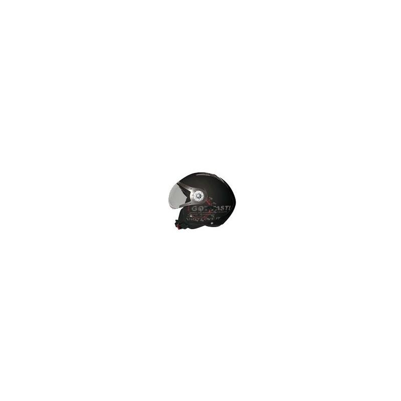 Casco Koji mod. 90930 - Tomcat Nero opaco mis. M