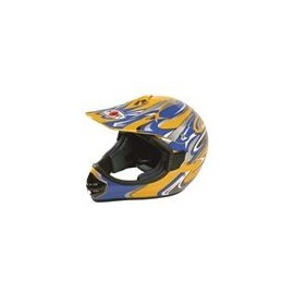 Casco Koji mod. 91189 - Cross Giallo mis. XL
