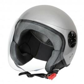 LD-3, casco demi-jet - colore Argento - Taglia M COD. 90734