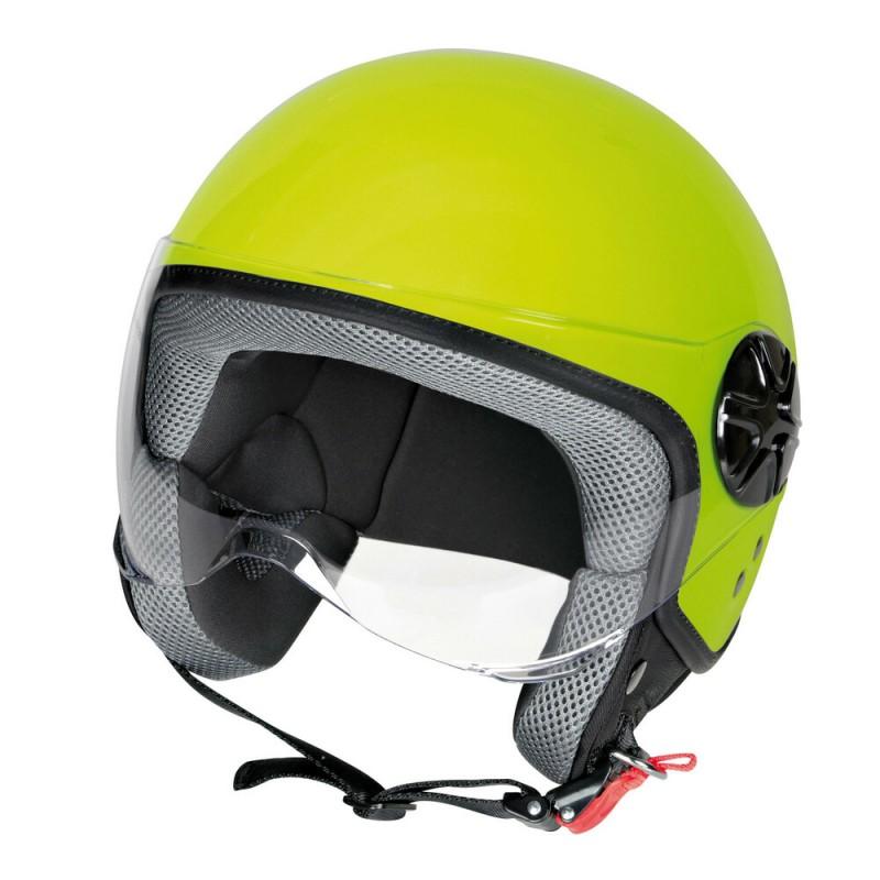 LD-2, casco demi-jet - colore Giallo fluo - taglia L COD. 90785