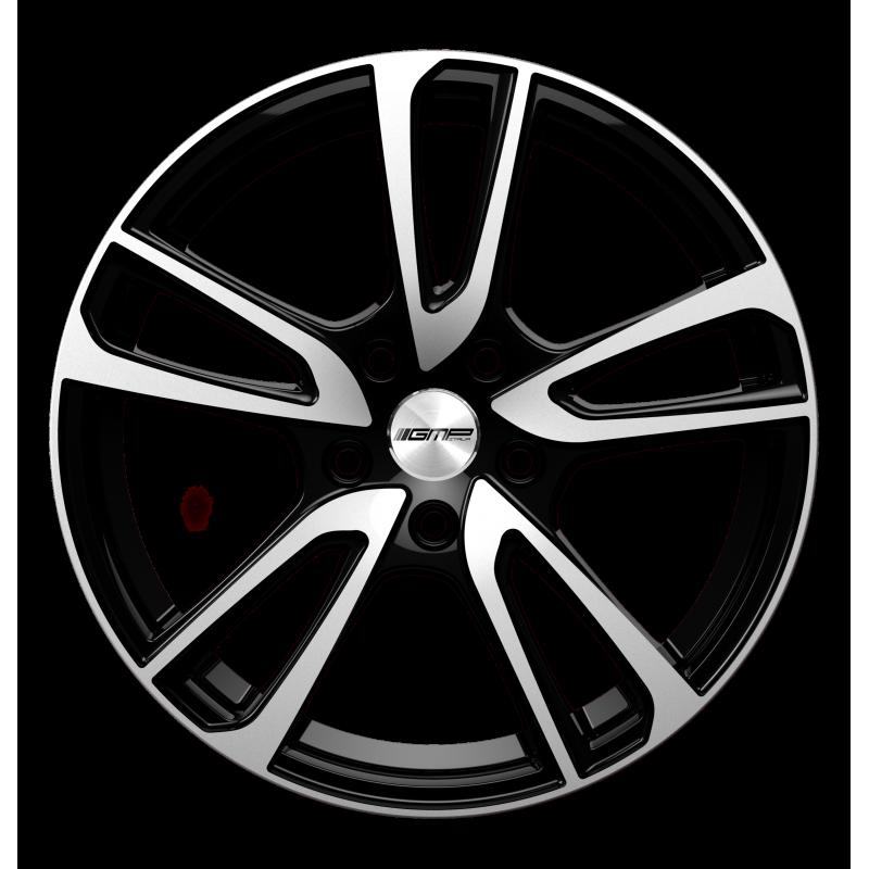 Cerchi in lega GMP ASTRAL Black Diamond diametro 17 PCD 5X98 ET 35 - ASTR70173525527I
