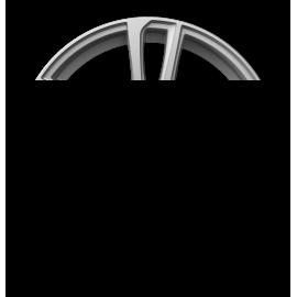 Cerchi in lega GMP ASTRAL Silver diametro 16 PCD 5X98 ET 35 - ASTR65163525540I