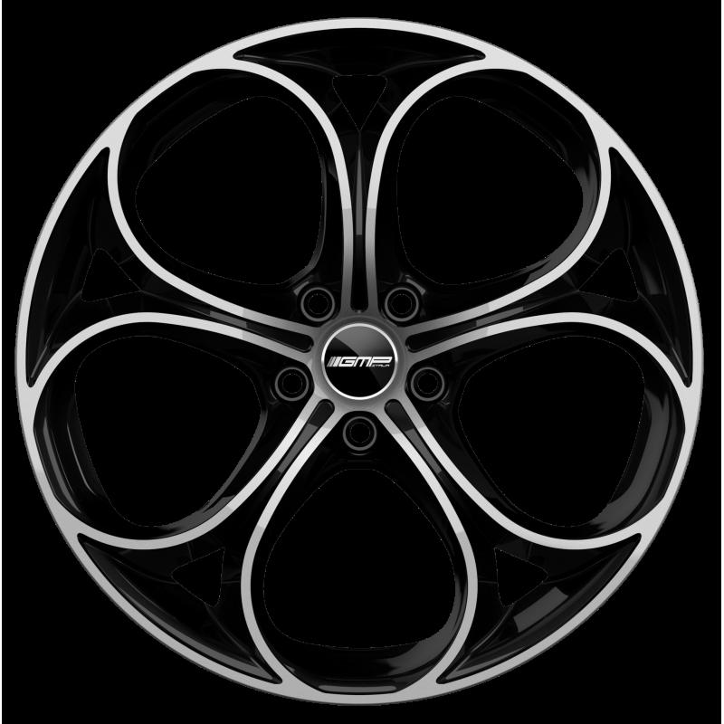 Cerchi in lega GMP DRAKE Black Diamond diametro 18 PCD 5X110 ET 33 - DRAK80183325827I