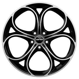 Cerchi in lega GMP DRAKE Black Diamond diametro 19 PCD 5X110 ET 32 - DRAK80193225827I