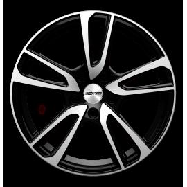 Cerchi in lega GMP ASTRAL Black Diamond diametro 18 PCD 5X112 ET 45 - ASTR80184516627I
