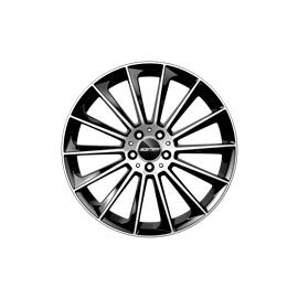 Cerchi in lega GMP STELLAR Black Diamond diametro 18 PCD 5X112 ET 45 - STEL80184515427I