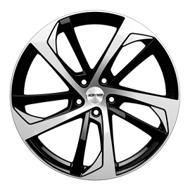 Cerchi in lega GMP KATANA Black Diamond diametro 18 PCD 5X112 ET 45 - KATA80184514527I