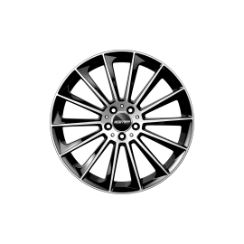 Cerchi in lega GMP STELLAR Black Diamond diametro 18 PCD 5X112 ET 35 - STEL80183515427I
