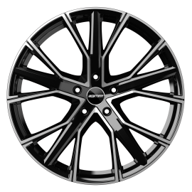 Cerchi in lega GMP GUNNER Black Diamond diametro 22 PCD 5X112 ET 37 - GUNN95223715427I