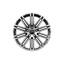 Cerchi in lega GMP TARGA Anthracite Diamond diametro 21 PCD 5X112 ET 26 - TRGS90212615411I