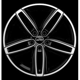 Cerchi in lega GMP DIVA Black Diamond diametro 18 PCD 5X112 ET 50 - DIVA75185015427I