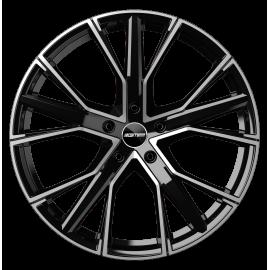 Cerchi in lega GMP GUNNER Black Diamond diametro 22 PCD 5X112 ET 43 - GUNN05224315427I