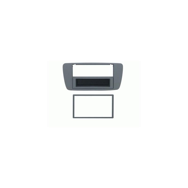 Mascherina con foro 2DIN ISO Grigio chiaro Seat Ibiza 2008 ► 2012