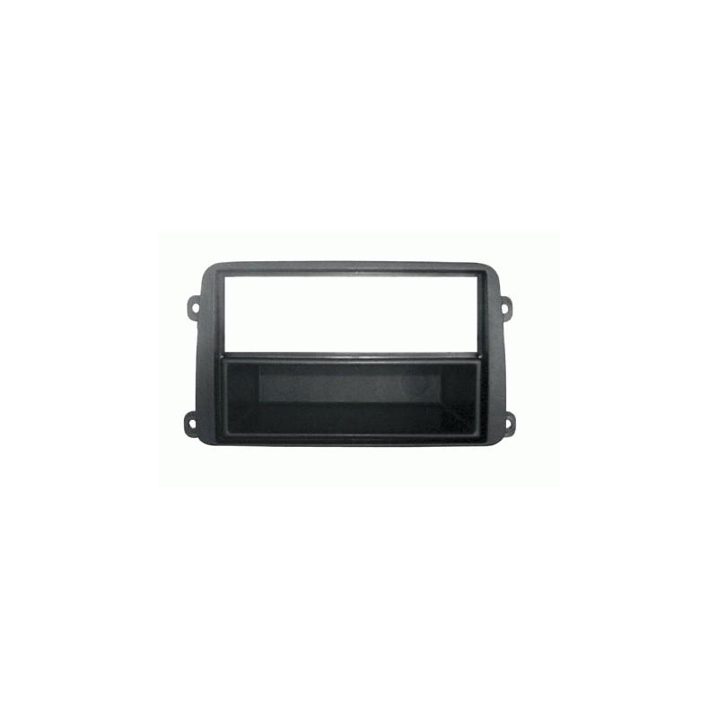 Mascherina con foro 2DIN ISO Antracite Volkswagen Seat Skoda