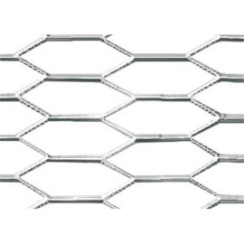 Racing Grill - Hexagon 8x25 mm - 100x33 cm - Lucido