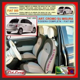 Fodere su misura Lid Long Fiat 500 2007 ► Nero